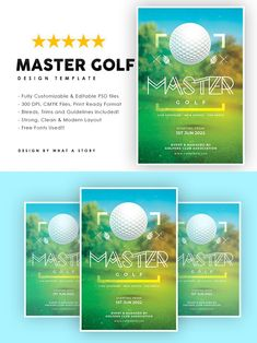 Party Flyer, Your Image, Golf, Layout, Templates, Free, Design, Stencils, Page Layout