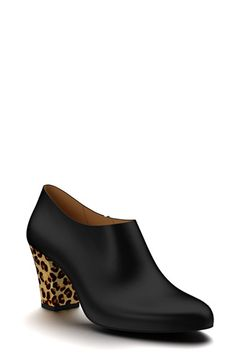 Shoes of Prey Leather & Calf Hair Ankle Bootie (Women) available at #Nordstrom