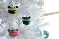 Ornamenti 20.crochet natale amigurumi schemi di orsacchiotto panda