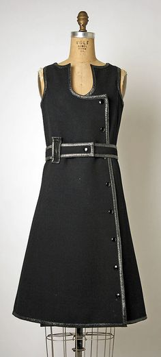 Dress (Jumper)  André Courrèges (French, born 1923)  Date: ca. 1965 Culture: French Medium: wool.  Credit Line: Gift of Despina Messinesi, 1975!!!