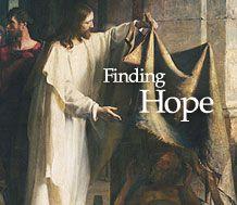 Artwork of Jesus Christ helping a poor man