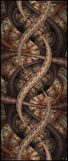 Life-strands by Mobilelectro on DeviantArt Fractal Geometry, Sacred Geometry, Fractal Images, Fractal Art, Psy Art, Fractal Design, Psychedelic Art, Pretty Art, Textures Patterns