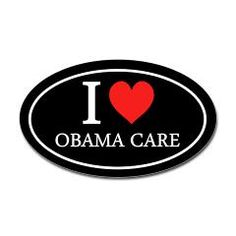 I Heart Obama Care Oval Bumper Sticker  $3.49