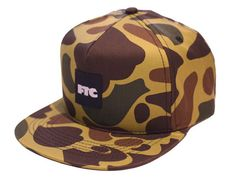 Duck Camo OG Square Snapback Cap by FTC