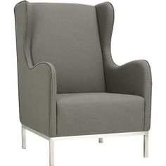 study oyster wingback chair - Oyster | CB2