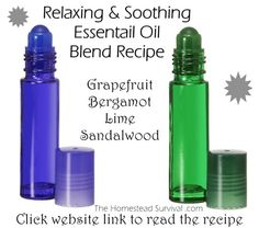Relaxing & Soothing Essential Oil Blend Recipe - Alternative to Lavender based recipe (via The Homestead Survival)