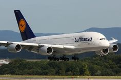 D-AIMA, the first Airbus delivered to Lufthansa, landing at Stuttgart Airport during a crew training flight in Airbus A380, Boeing 747, Frankfurt, Munich, Lufthansa Pilot, Stuttgart Airport, Passenger Aircraft, High Resolution Wallpapers, Commercial Aircraft