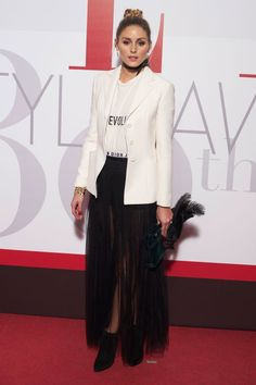 Olivia Palermo walked the red carpet in a look from Maria Grazia Chiuri's debut collection for Dior.