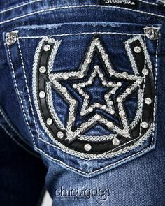 These miss me jeans would be cute with boots!
