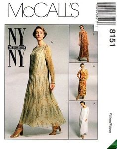 Uncut Sewing Pattern Mccall's 8151 Ladies 14 Pullover Dress Slip Loopy FF for sale online Ny Ny, Mccalls Sewing Patterns, Pullover, Fashion Outfits, Lady, Modern, Vintage, Collection, Coupons