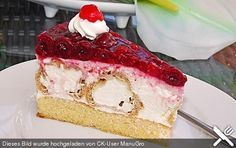 Windbeuteltorte Windbeutel cake, a delicious recipe from the category cake. Delicious Cake Recipes, Yummy Cakes, Yummy Food, Cream Puff Cakes, German Baking, German Cake, Puff Pastry Recipes, Food Cakes, Sweet And Salty