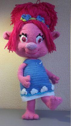 Troll Poppy Crochet Doll Amigurumi Poppy Princess por VIKcraft