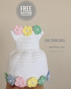 Ravelry: Holland Lop Rabbit pattern by Claire Garland Crochet Doll Dress, Crochet Doll Clothes, Crochet Doll Pattern, Crochet Patterns, Crochet Baby Sandals, Baby Girl Crochet, Cupcake Costume, Crochet Hair Clips, Pinafore Pattern