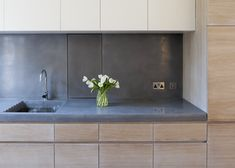 lowinfo #concrete worktops and splash backs featured int the beautiful Butterfly Loft Apartment by Tigg Coll Architects #design #architecture