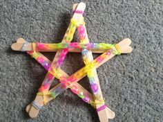 Flame: Creative Children's Ministry: Loom Band Advent Stars