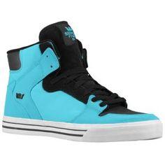 blue and black supras