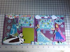 Frozen scrapbook page
