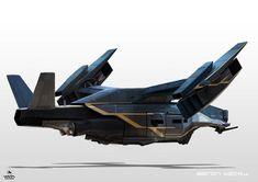 ArtStation - Elysium - Air Vehicles, WETA WORKSHOP DESIGN STUDIO