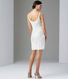Adrianna Papell Beaded Dress #Dillards