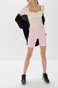 UO Kimmy Gingham High-Rise Bike Short - $34 #theradicalblog #urbanoutfitters #spring #springoutfits Cycling Shorts, Skinny Fit, Spring Outfits, Gingham, Must Haves, Fitness Models, Urban Outfitters, Thighs, Bike