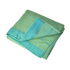 Peruvian Alpaca Blend Throw, Baby Blue and Teal