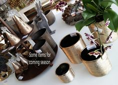 Items in gold and brown theme #Sweden #ItemsForShops #ButiksProdukter #2have #Decor #Followme #Lovemyjob #Salesrep