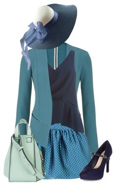 """Blue tones"" by brooklynbeatz ❤ liked on Polyvore featuring maurices, Boutique Moschino, Y.A.S, Loewe, Blue, teal and eastersunday"