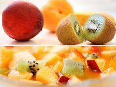 Cómo hacer una macedonia de frutas. Recetas para el verano.  #recetassalusables #recetasdeverano #recetasparaniños #macedonia #charhadas
