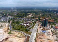An aerial view of Nusajaya in Iskandar Malaysia, Johor. Singaporean businesses continue to look to set up shop in Johor's Iskandar Development Region. — file pic