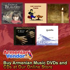 Looking for the latest Armenian Music or just want to listen to an old favorite? Play Our Armenian Music Jukebox. We have all types of Armenian Music and all Armenian Music is available at our online store:  Armenian Dance Music Folk and Religious Music Armenian Pop Music Armenian American Country Music  We also have other Armenian CDs & DVDs in addition to these Armenian Music items… Click to learn more.