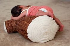 This is perfect for a roll around pillow in a kids room and adds to a nature/woodland nursery