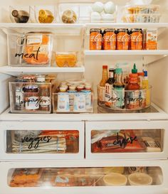 The Good, the Bad and Small Apartment Kitchen Storage Ideas That Won't Risk Your Deposit - airhomedecor Refrigerator Organization, Kitchen Organization Pantry, Home Organisation, Organized Fridge, How To Organize Fridge, Freezer Organization, Organizing Ideas For Kitchen, Organization Hacks, Kitchen Storage