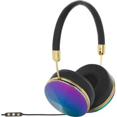FRENDS Taylor Oil Slick on-ear headphones ($255) ❤ liked on Polyvore featuring accessories, tech accessories and frends headphones