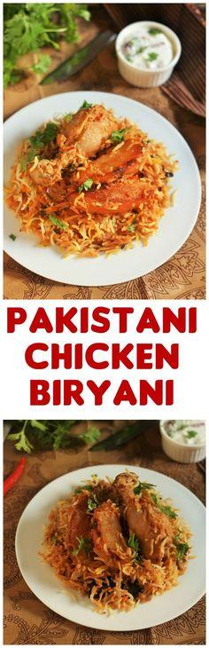 Pakistani Chicken Biryani recipe-A chicken biryani recipe made in Pakistani Style with chicken and potatoes. #halalrecipes #faskitchen #chickenbiryani#pakistanibiryani #biryanirecipe