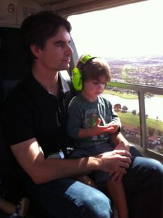 Jeff Gordon and son Leo