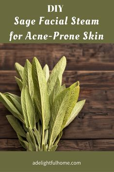 The benefits of a facial steam is the perfect precursor to a scrub or masks since it opens up the pores allowing the masks or nourishing oils in the scrub to penetrate more deeply. Learn here how to make your own DIY Sage Facial Steam for Acne Prone Skin, to incorporate into your skincare routine. #naturalskincare #naturalbeauty #diyskincare