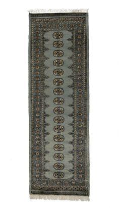 2.5x8 Grey Bokhara Oriental Rug
