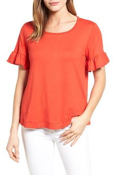 c9a136ea00302d Bobeau Bobeau Bell Sleeve Tee (Regular  amp  Petite) available at   Nordstrom Mom