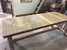 Reclaimed barn loft flooring makes this table top Loft Flooring, Barn Loft, Cool Stuff, Table, Top, Furniture, Home Decor, Decoration Home, Room Decor