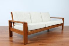 Mid Century 1970s Teak Danish Sofa by HW Klein for Bramin Mobler  -Reupholstered  -$1500  -79.25L x 30D x 31H 17 Seat Height  Please email if