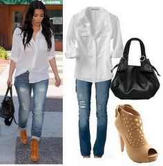 Im not a fan of Kim Kardashian, but this casual look I love!!!