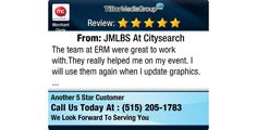 The team at ERM were great to work with.They really helped me on my event. I will use them...