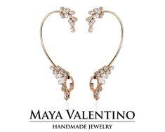 Bridal Ear Cuff, Ear Climber Earrings, Climbing Earring, Swarovski Ear cuff, Swarovski Earring, Prom Jewelry, Bridal Earrings, Warp Earring Cuff Earrings, Bridal Earrings, Etsy Earrings, Prom Jewelry, Jewelry Model, Climbing Earrings, Emerald Green Earrings, Selling Jewelry, Designer Earrings