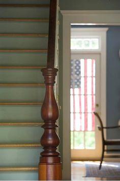 The Little Hermitage - freshfarmhouse: Fresh Farmhouse Connor Homes ~. Stair Risers, Banisters, Stair Railing, Railings, Fresh Farmhouse, Country Farmhouse, American Farmhouse, Country Charm, Country Style