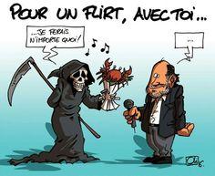 Les Humeurs d'Oli Le dessin refusé, pour l'hommage a Michel Delpech, mort ce samedi.