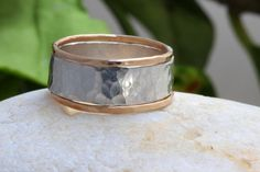 Sterling Silver and Gold Fill Mixed Hammered by rainbowearring, $58.00
