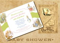Baby Shower Invitation The Tale of Peter Rabbit by OldWaysFussNFeathers, $24.00
