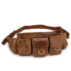 Vintage Leather Fashion Men Brown Waist Bag Fanny Pack Purse Accessories Pocket | eBay