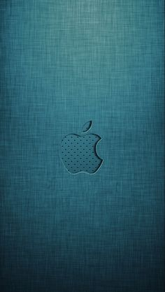 iPhone 5 Wallpaper Apple logo grey green