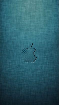 iPhone 5 Wallpaper Apple logo grey green